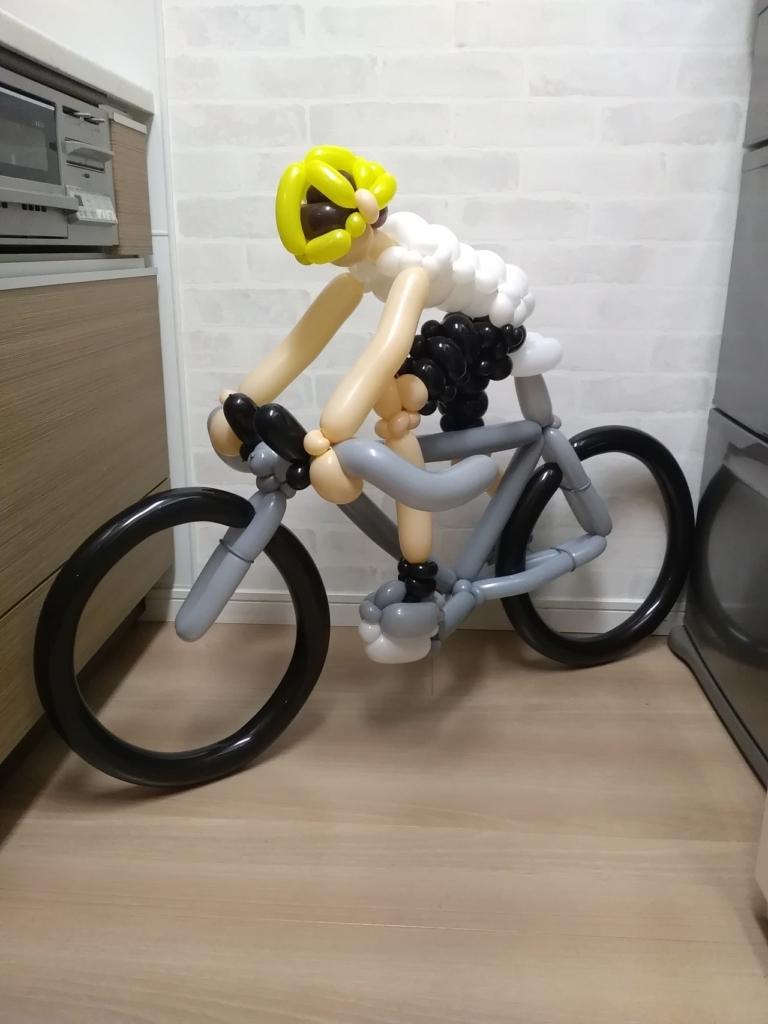 自転車のバルーンアート